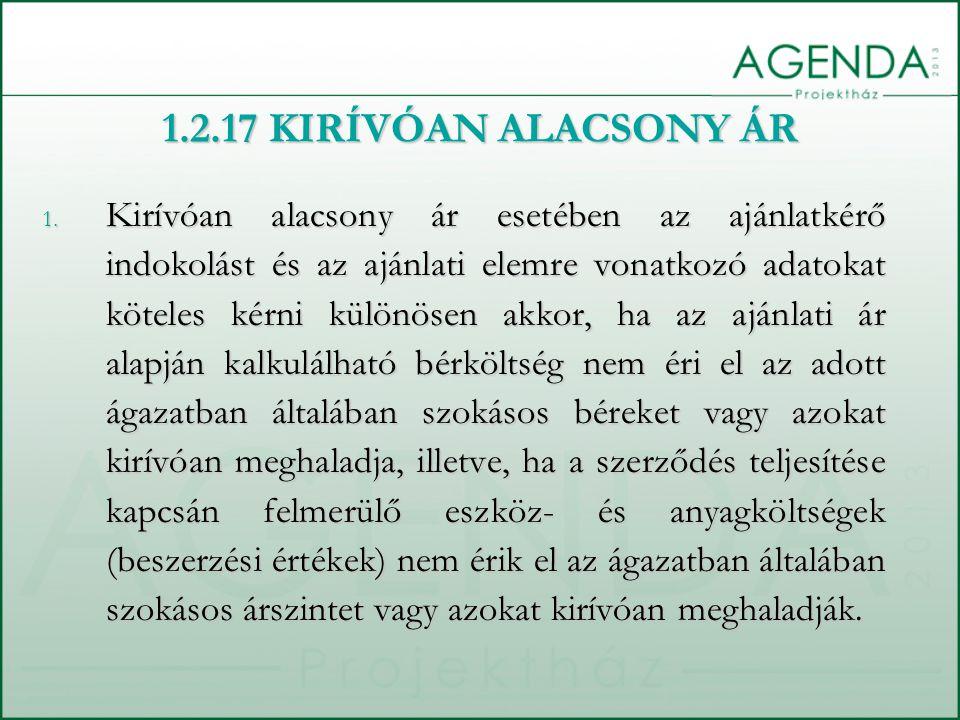 1.2.17 KIRÍVÓAN ALACSONY ÁR