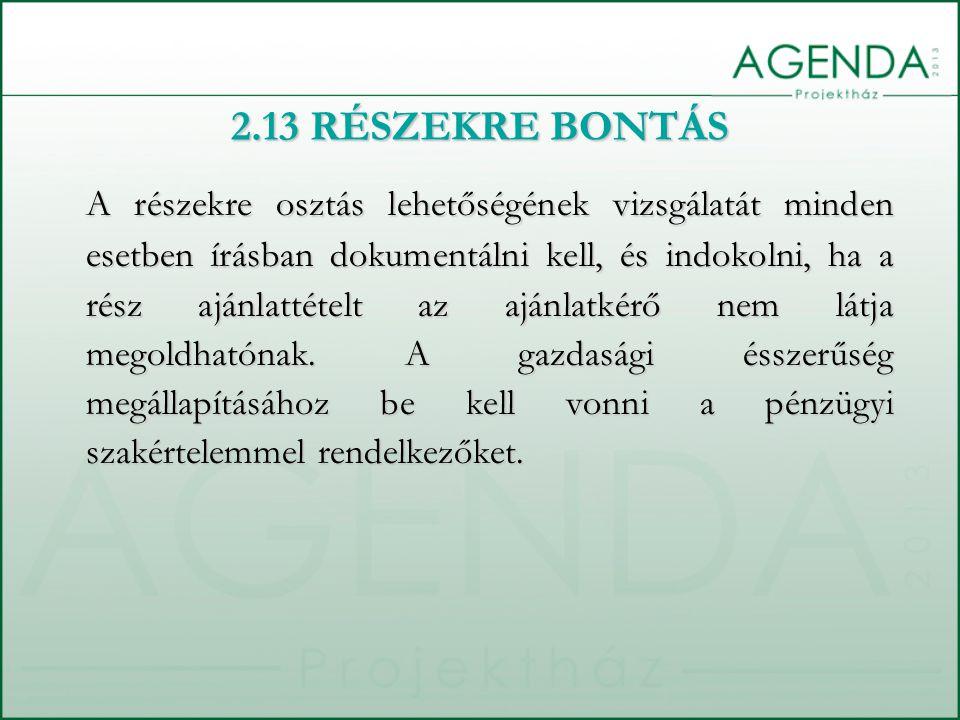2.13 RÉSZEKRE BONTÁS