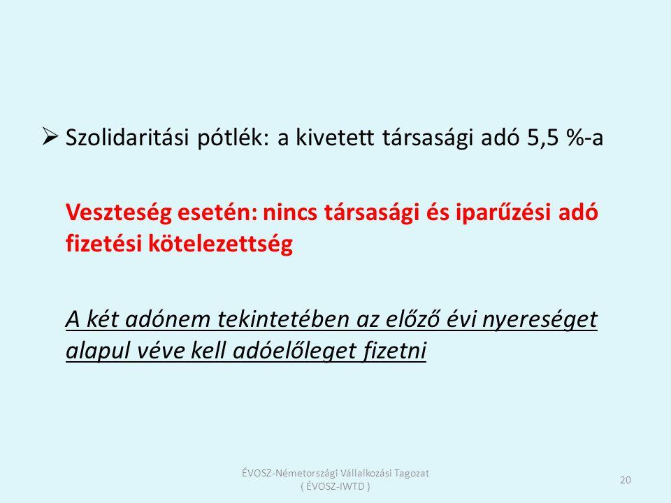 ÉVOSZ-Németországi Vállalkozási Tagozat ( ÉVOSZ-IWTD )