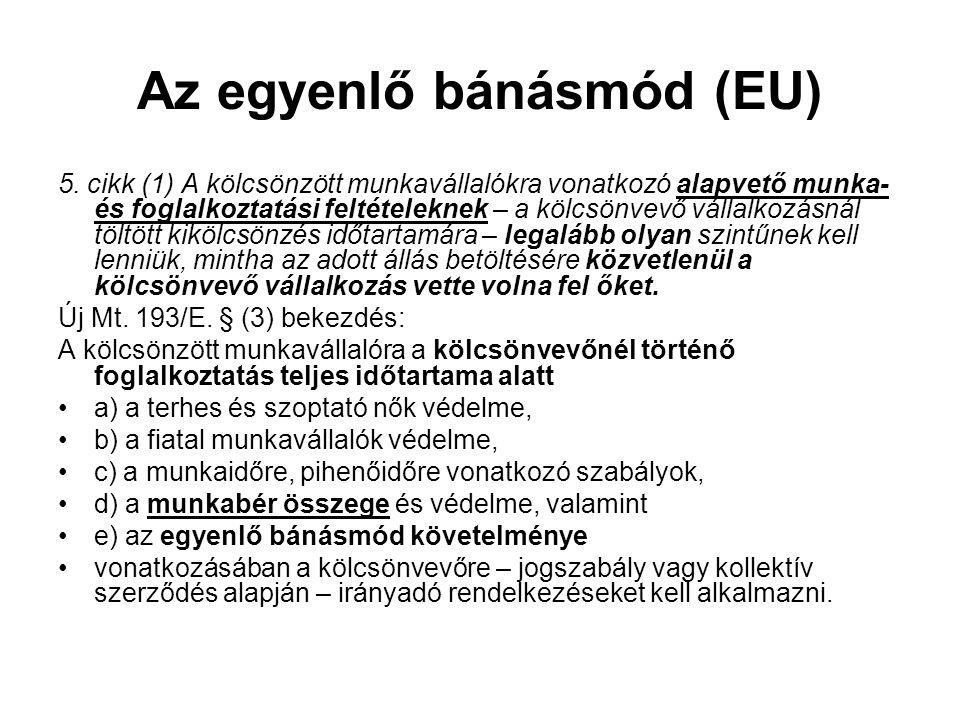 Az egyenlő bánásmód (EU)
