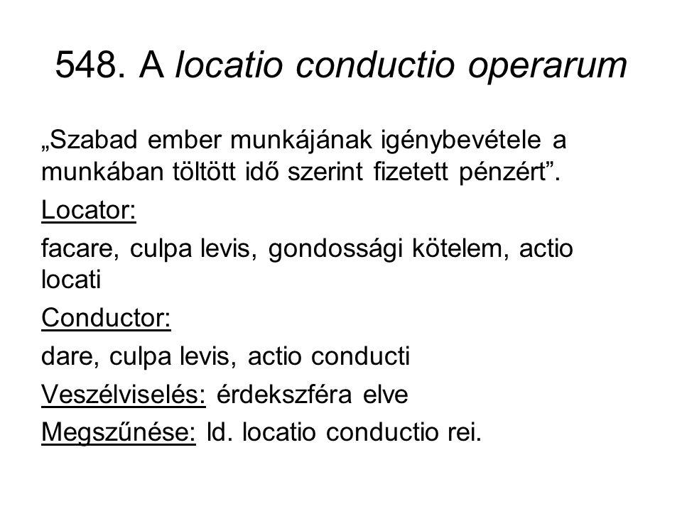548. A locatio conductio operarum