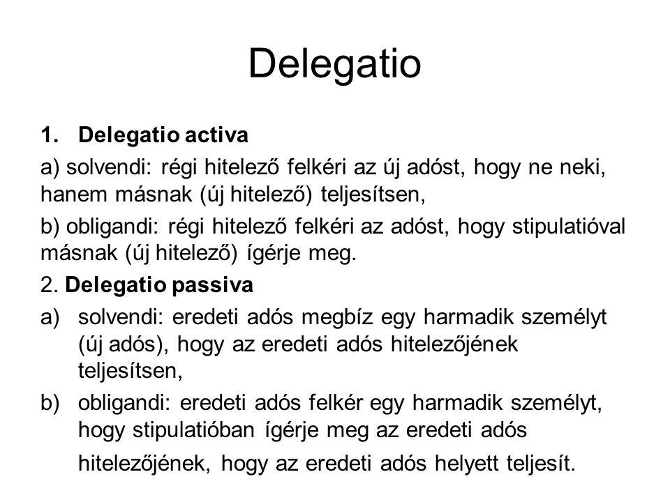 Delegatio Delegatio activa