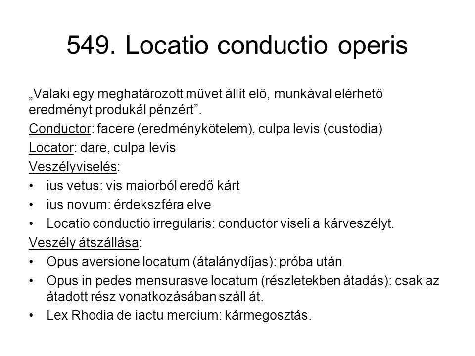549. Locatio conductio operis