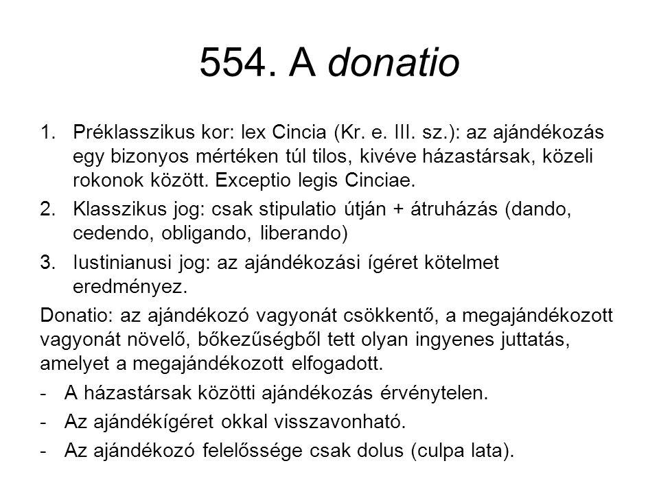 554. A donatio