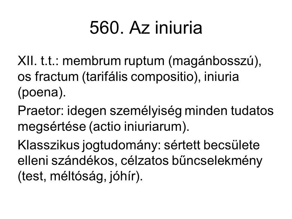 560. Az iniuria