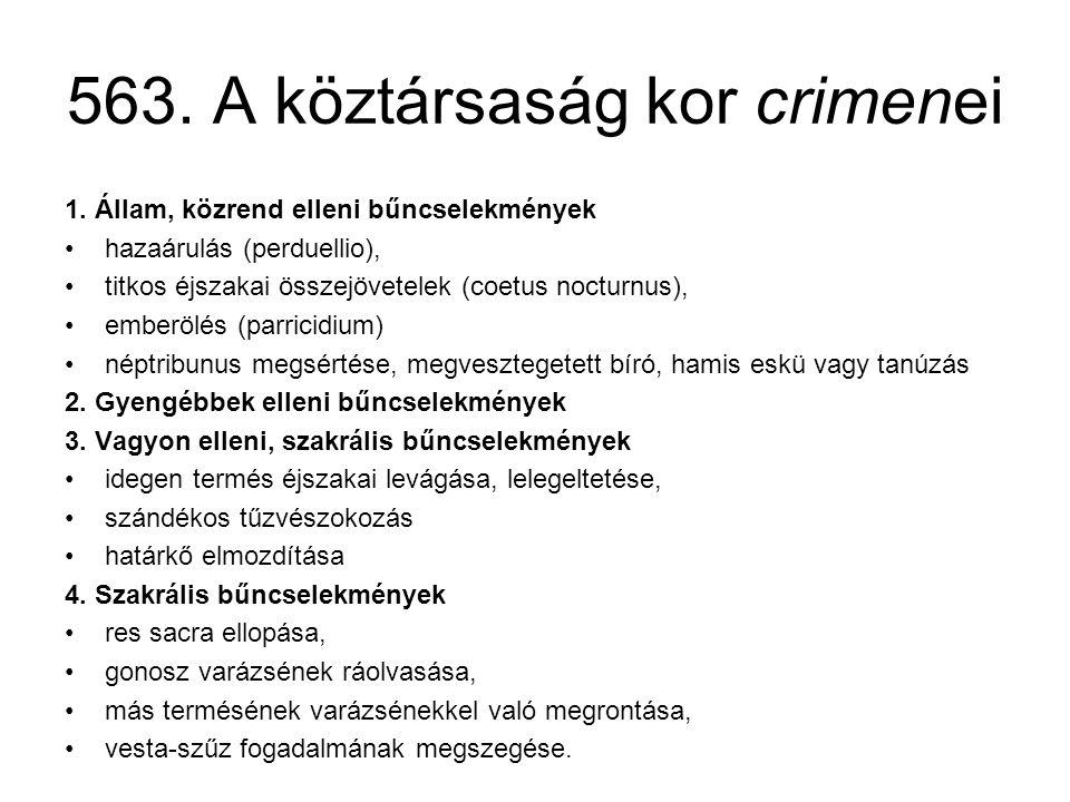 563. A köztársaság kor crimenei