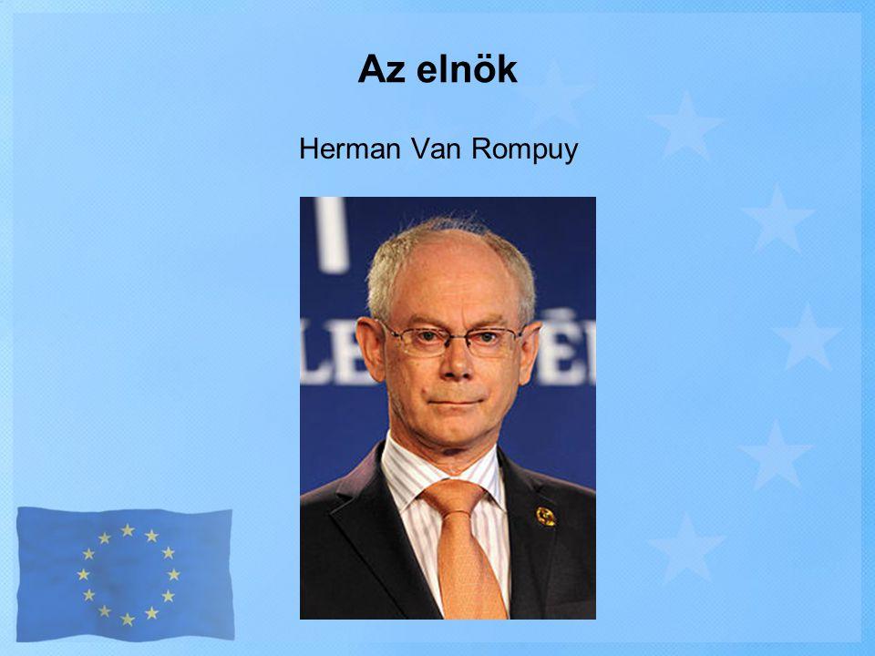 Az elnök Herman Van Rompuy