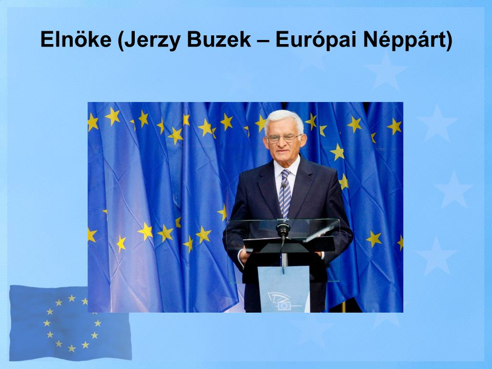 Elnöke (Jerzy Buzek – Európai Néppárt)