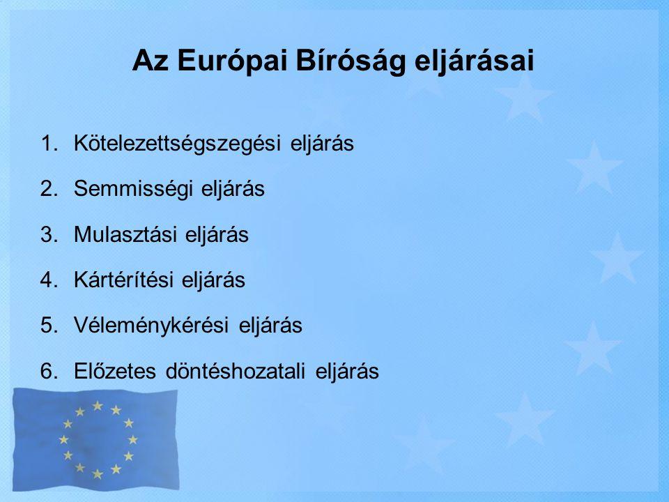Az Európai Bíróság eljárásai
