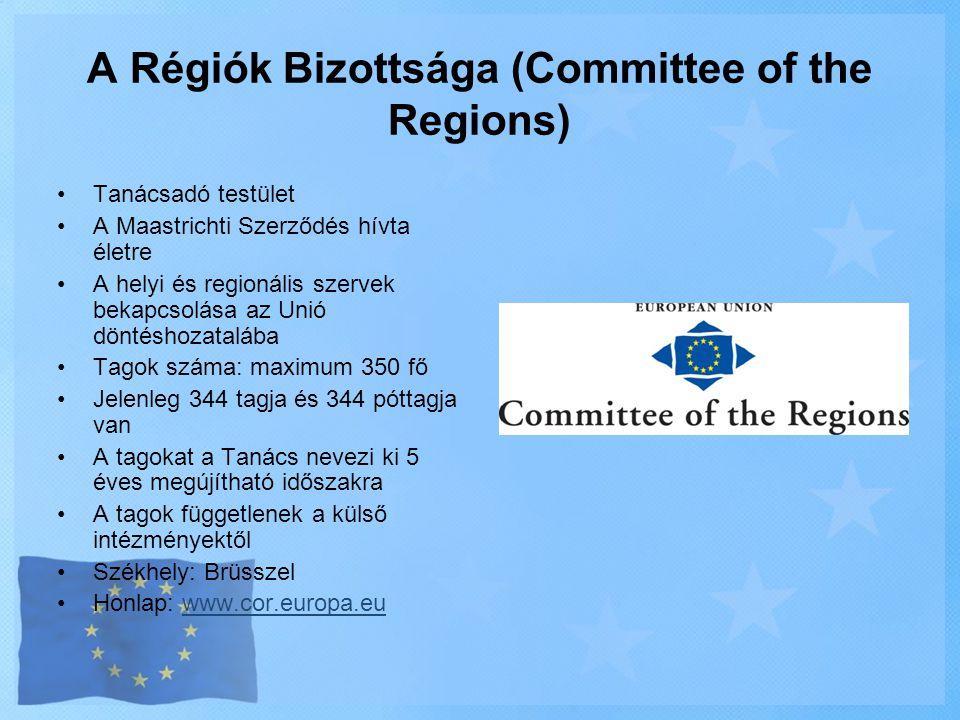 A Régiók Bizottsága (Committee of the Regions)