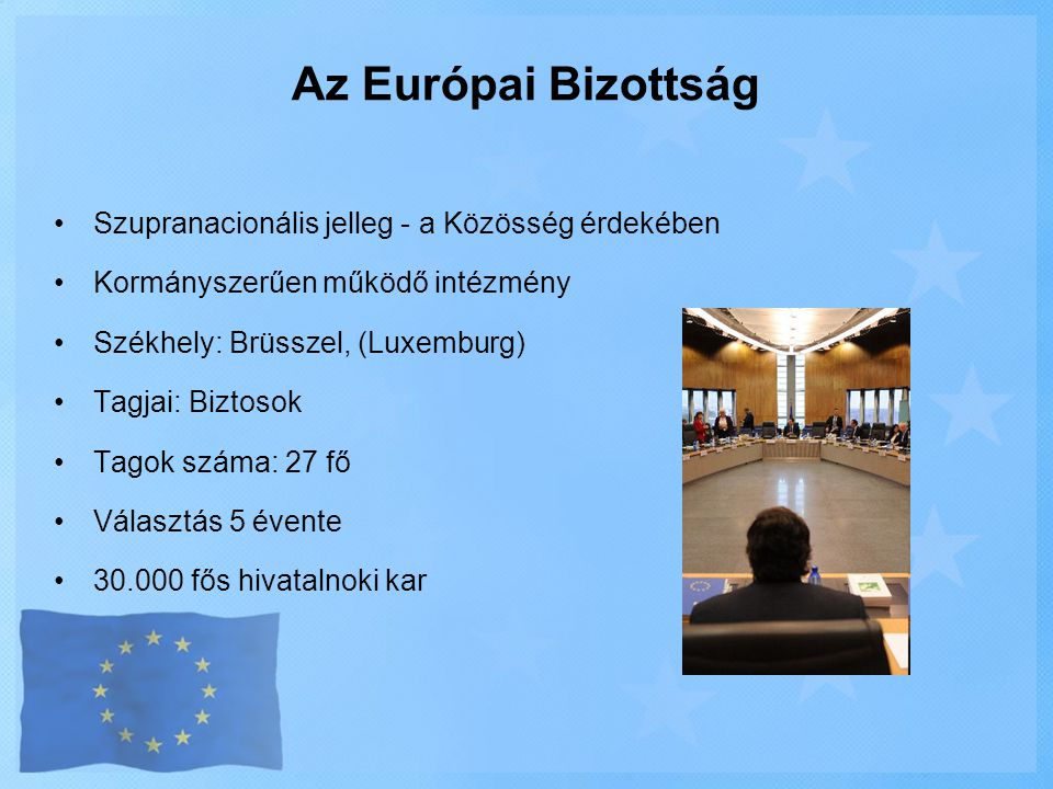 Az Európai Bizottság Szupranacionális jelleg - a Közösség érdekében