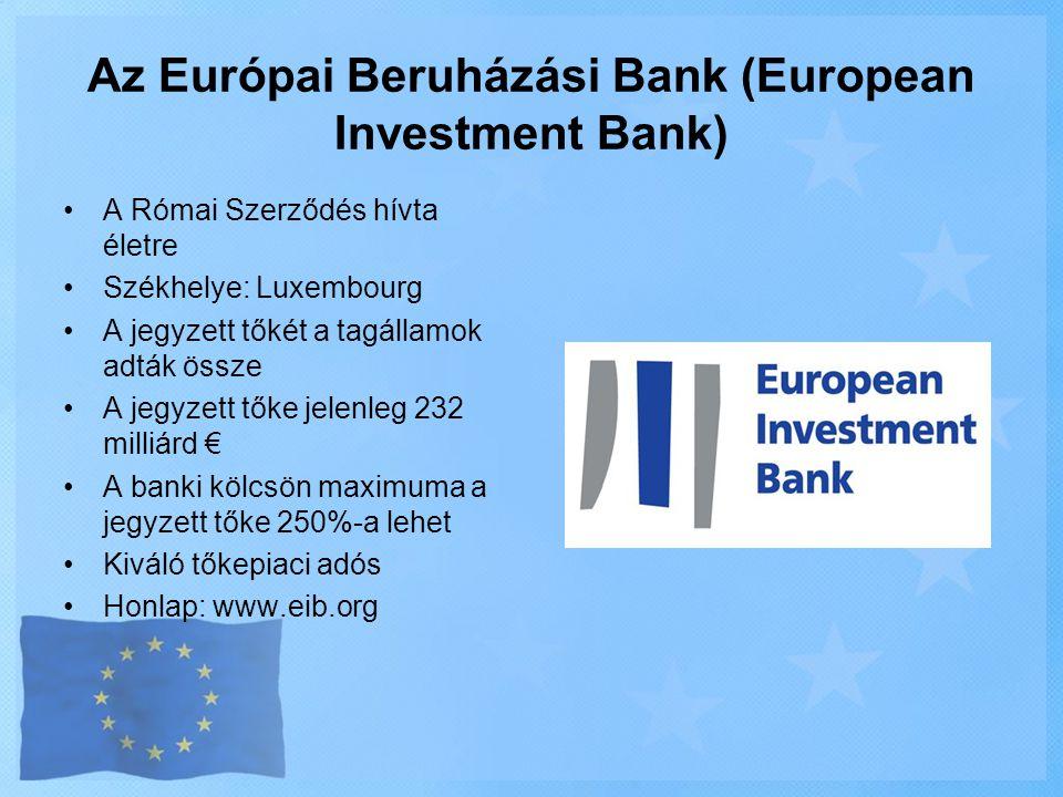 Az Európai Beruházási Bank (European Investment Bank)