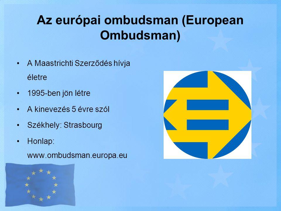 Az európai ombudsman (European Ombudsman)