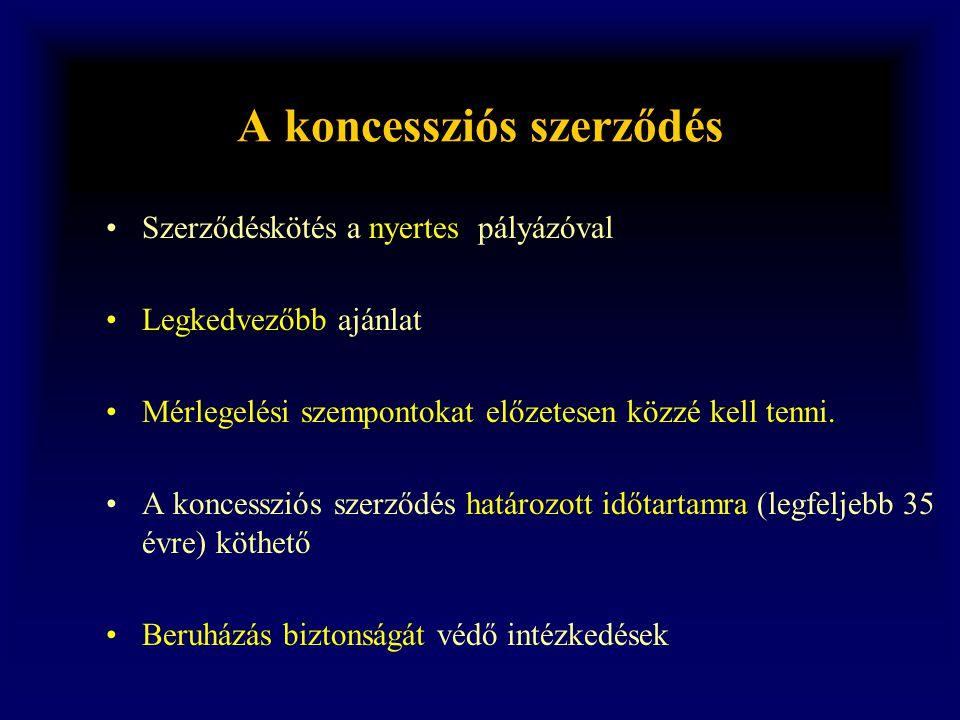 A koncessziós szerződés