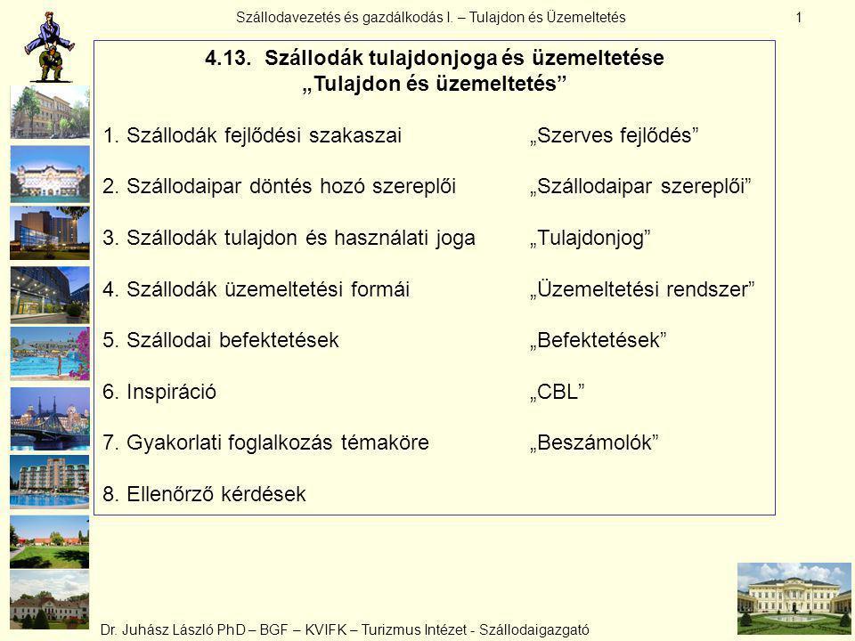 """4.13. Szállodák tulajdonjoga és üzemeltetése """"Tulajdon és üzemeltetés"""