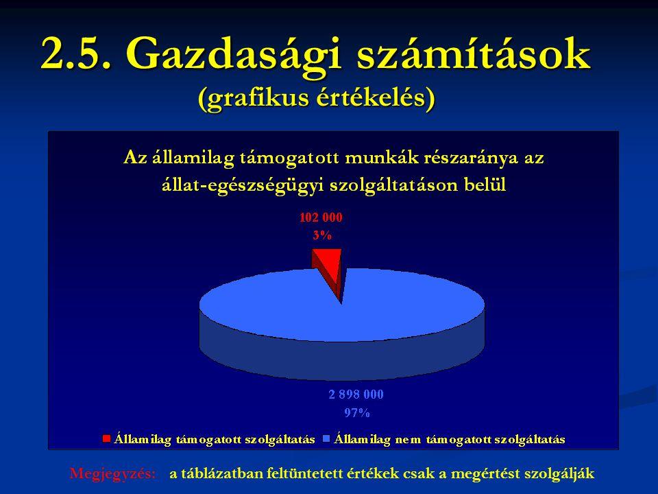 2.5. Gazdasági számítások (grafikus értékelés)