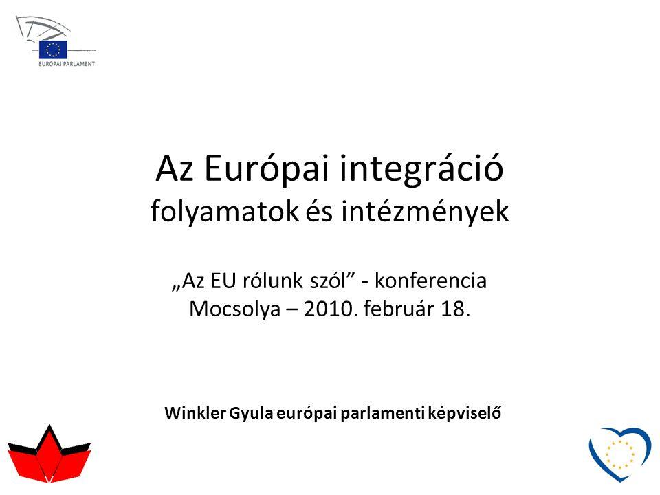 Az Európai integráció folyamatok és intézmények