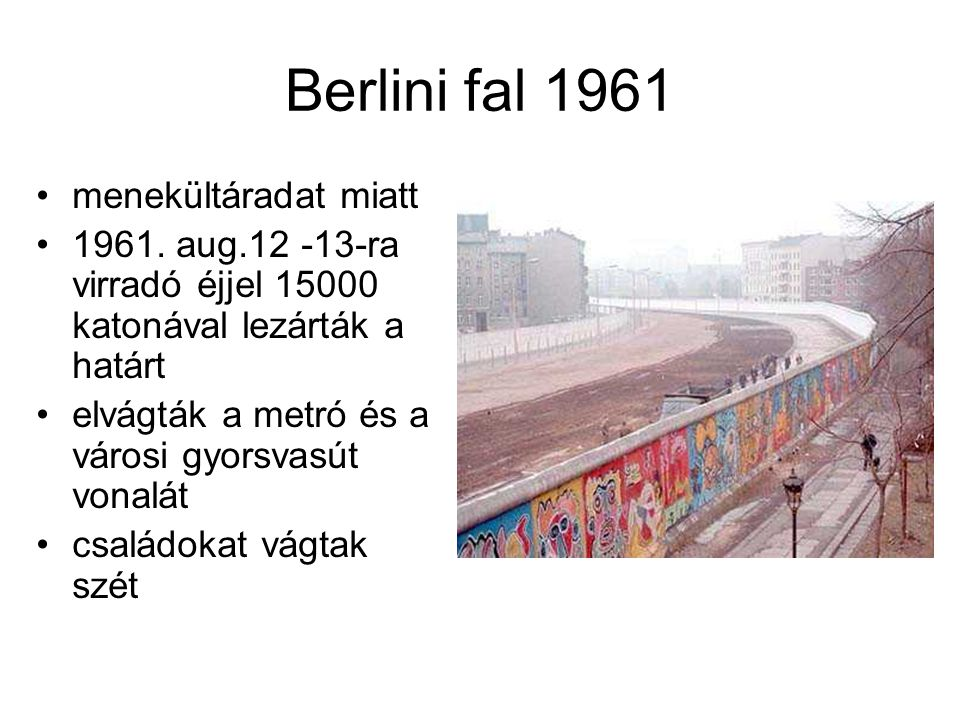 Berlini fal 1961 menekültáradat miatt