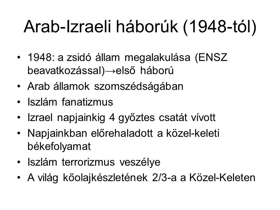 Arab-Izraeli háborúk (1948-tól)