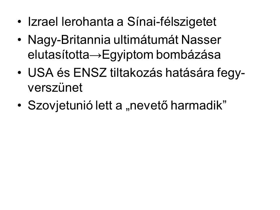 Izrael lerohanta a Sínai-félszigetet