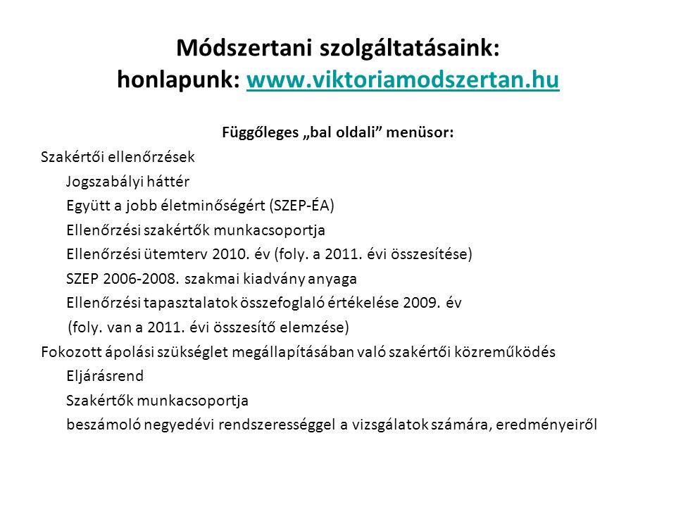 Módszertani szolgáltatásaink: honlapunk: www.viktoriamodszertan.hu