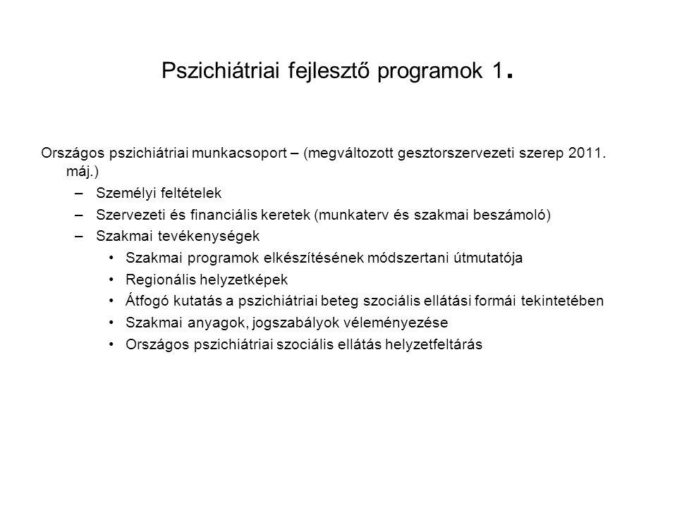 Pszichiátriai fejlesztő programok 1.