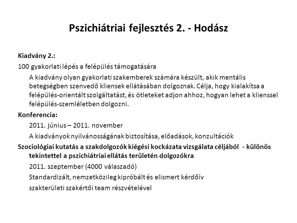 Pszichiátriai fejlesztés 2. - Hodász