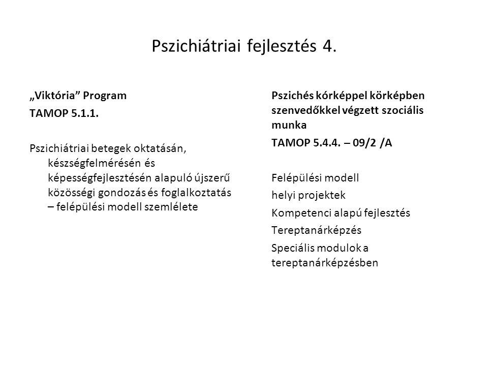 Pszichiátriai fejlesztés 4.
