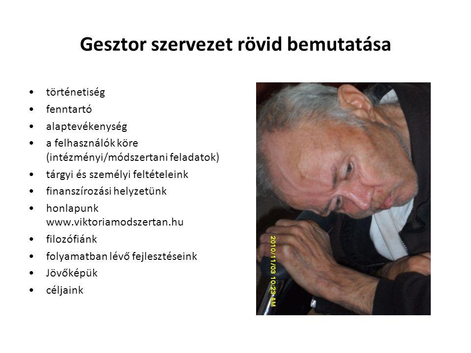 Gesztor szervezet rövid bemutatása