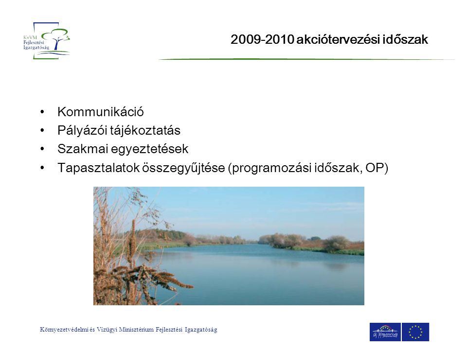 2009-2010 akciótervezési időszak