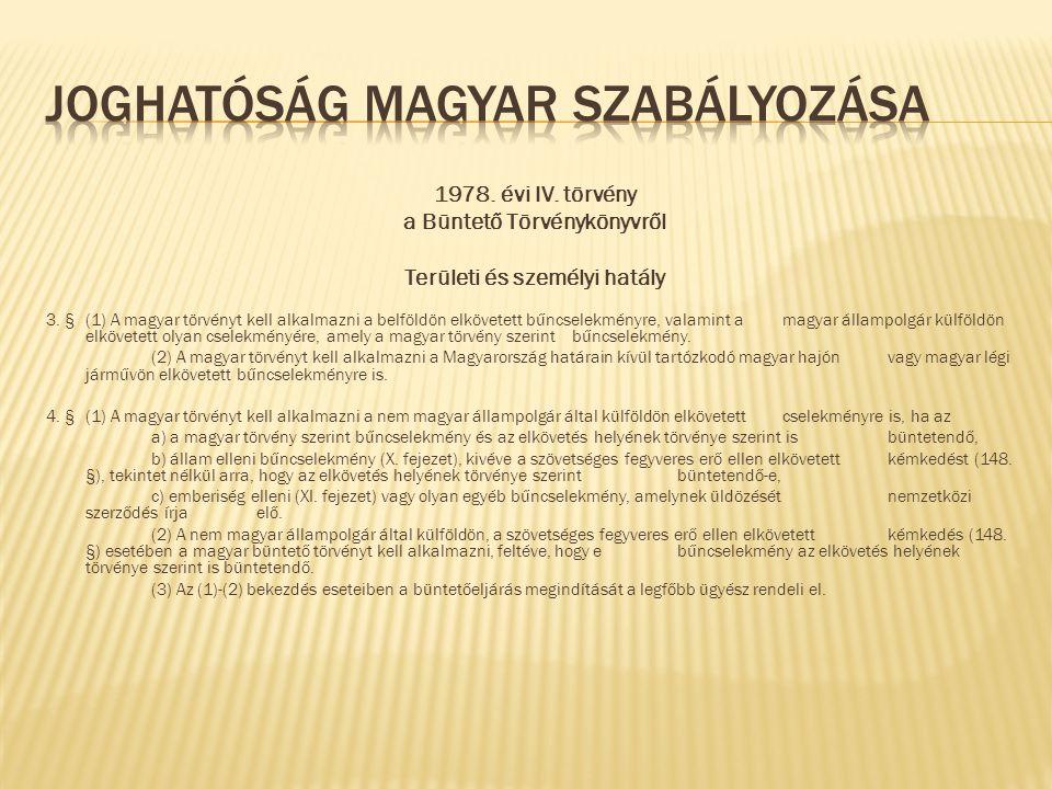 Joghatóság magyar szabályozása