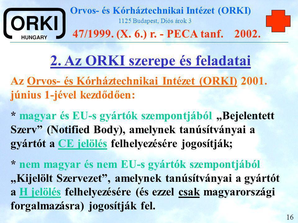 2. Az ORKI szerepe és feladatai