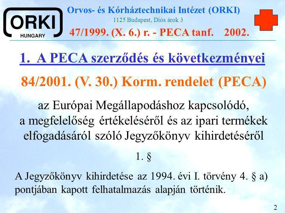 84/2001. (V. 30.) Korm. rendelet (PECA)