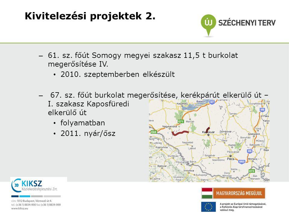 Kivitelezési projektek 2.