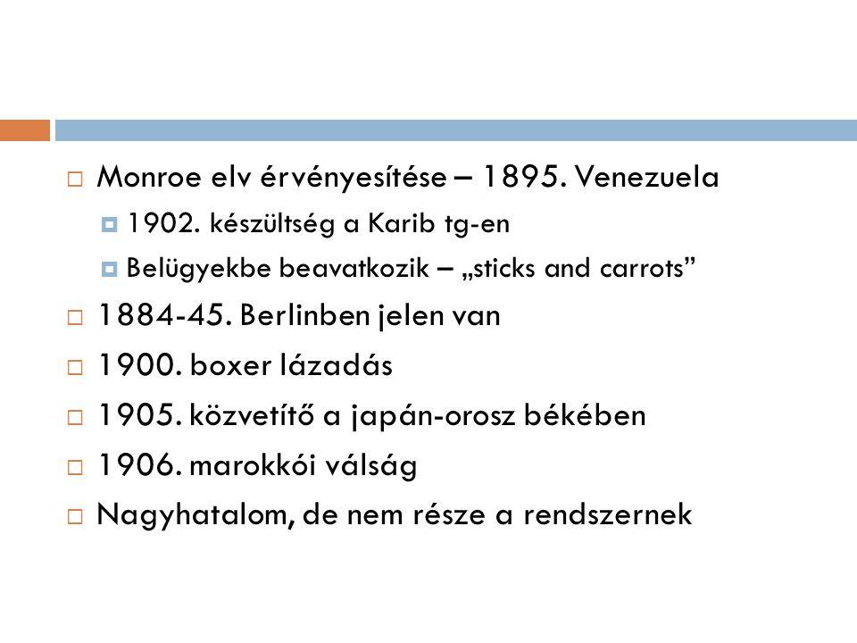 Monroe elv érvényesítése – 1895. Venezuela