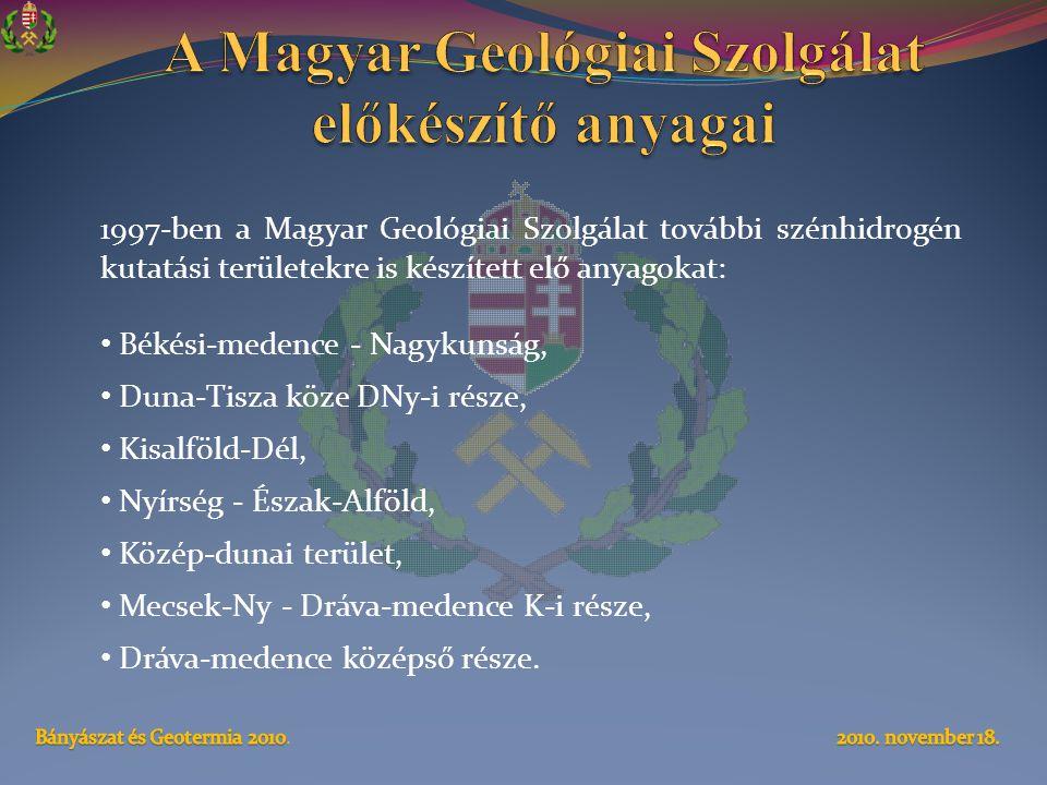 A Magyar Geológiai Szolgálat előkészítő anyagai