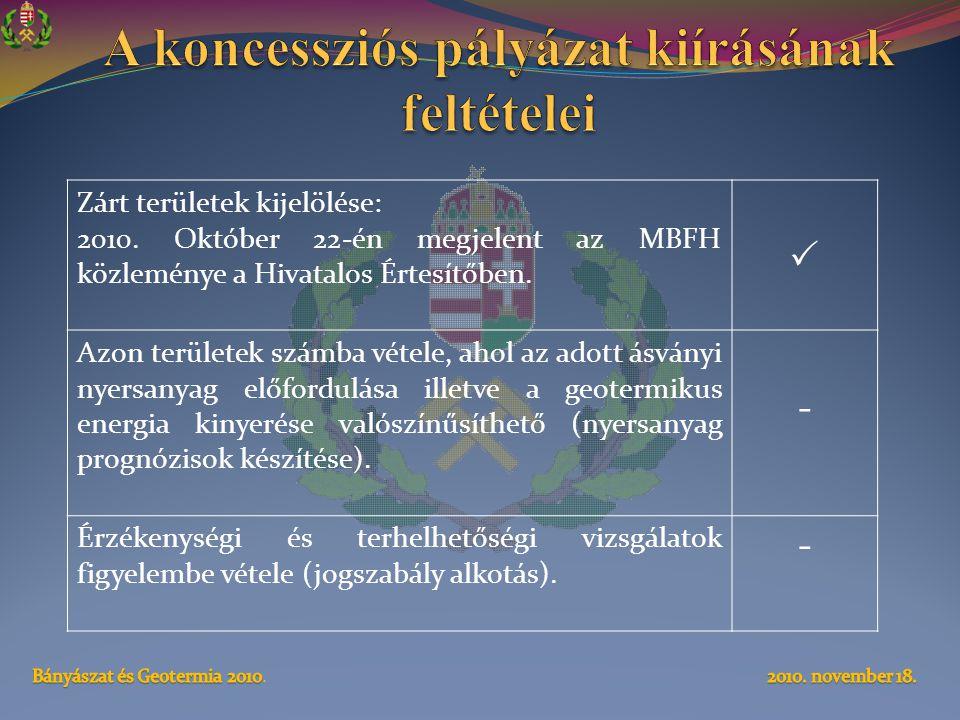 A koncessziós pályázat kiírásának feltételei