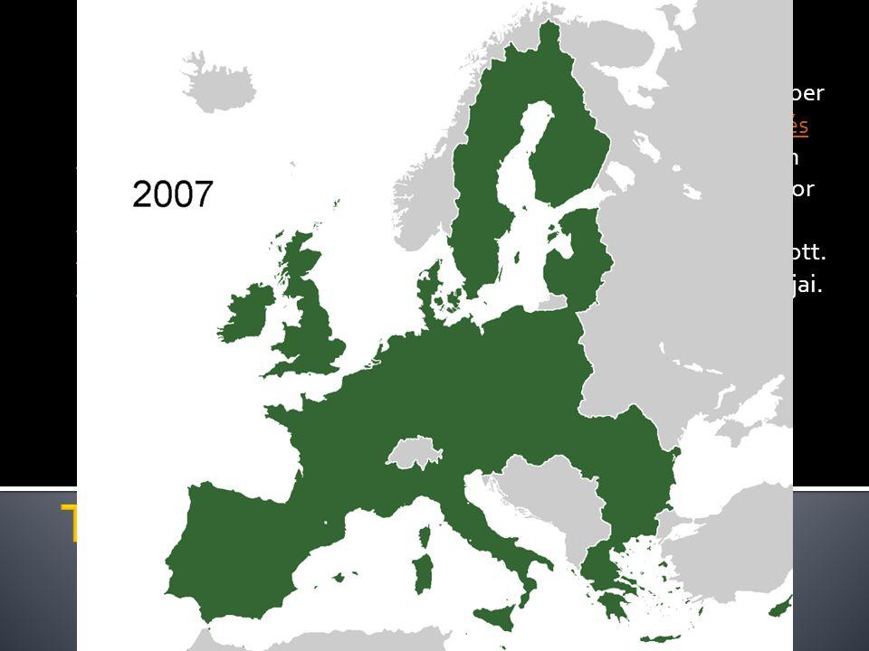 Az Európai Unió hivatalosan a Maastrichti szerződés 1993