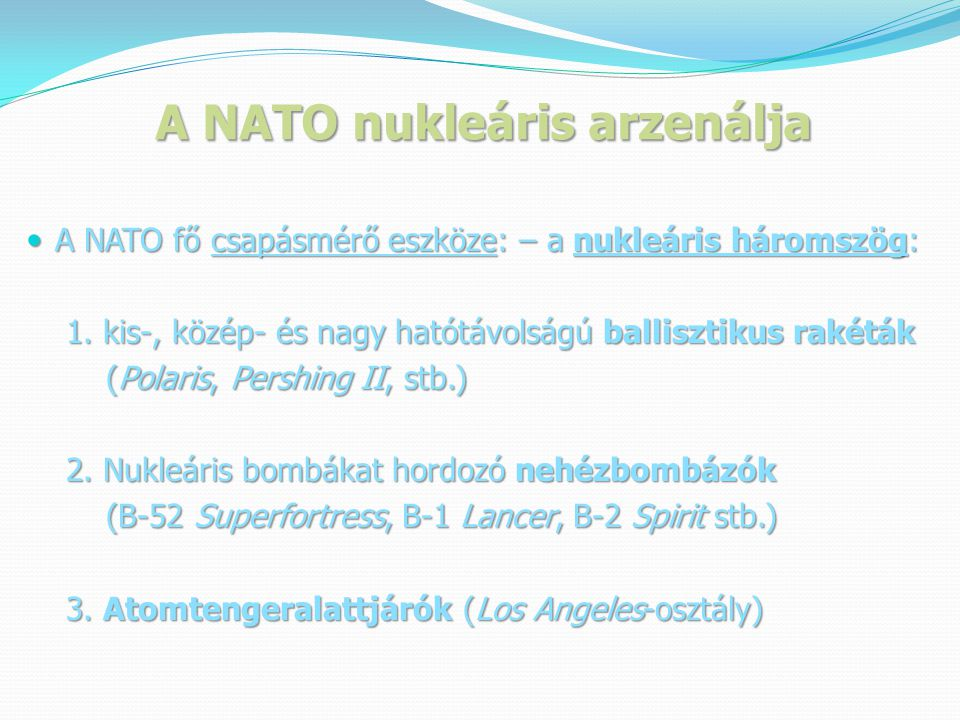 A NATO nukleáris arzenálja