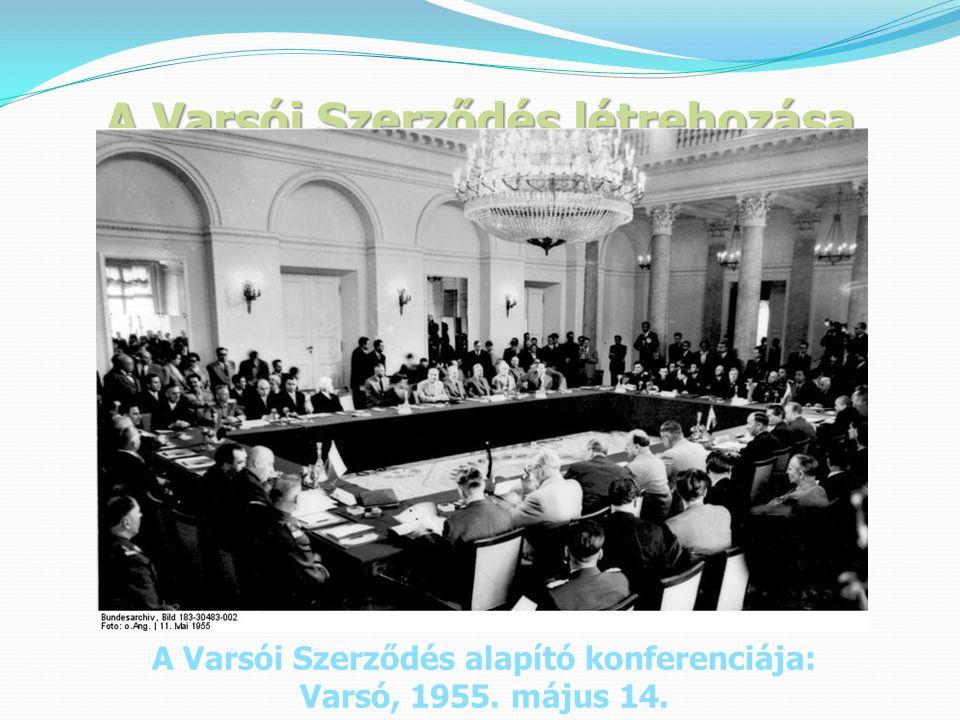 A Varsói Szerződés létrehozása