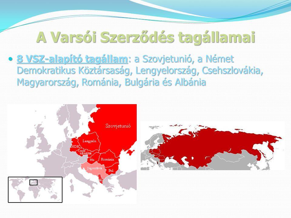 A Varsói Szerződés tagállamai