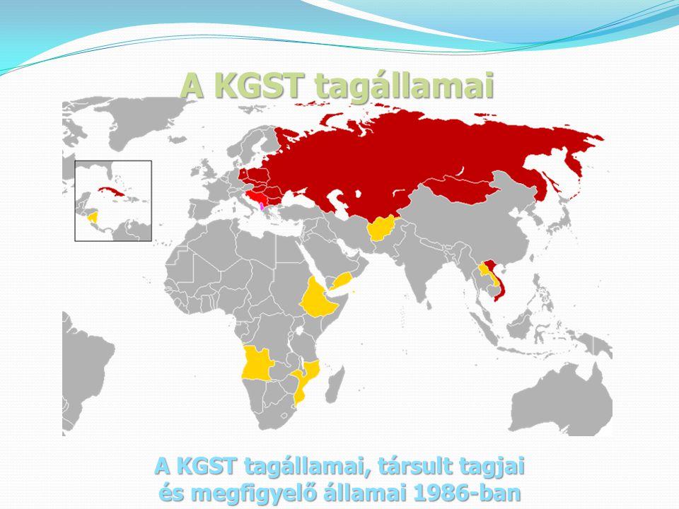 A KGST tagállamai, társult tagjai és megfigyelő államai 1986-ban