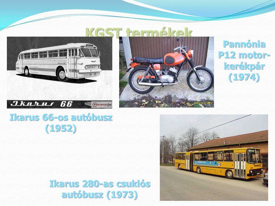 Pannónia P12 motor-kerékpár Ikarus 280-as csuklós autóbusz (1973)