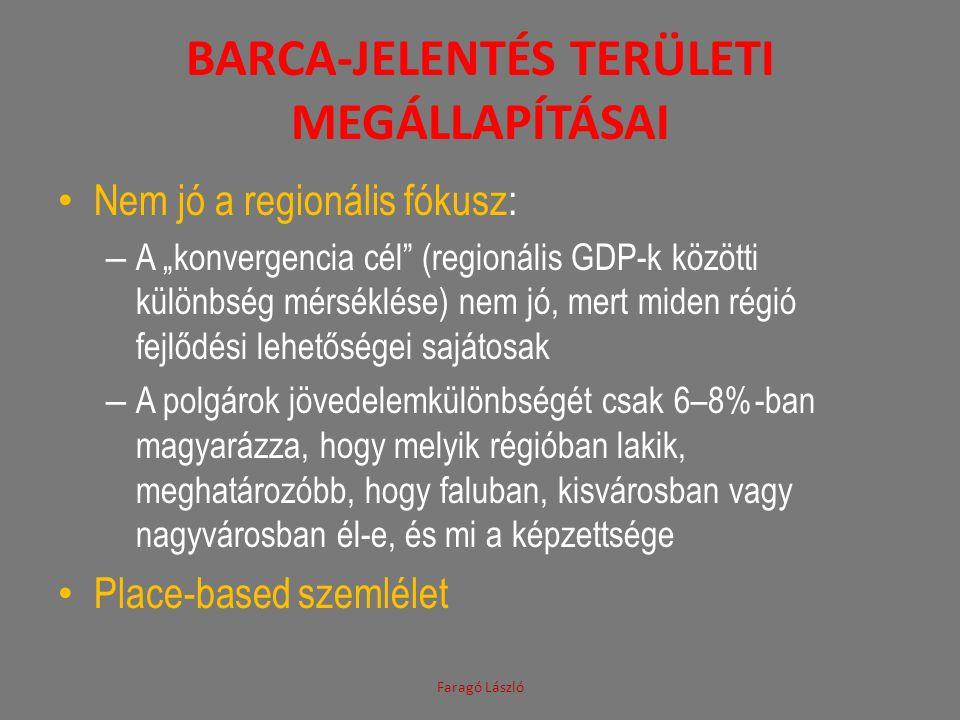 Barca-jelentés területi megállapításai