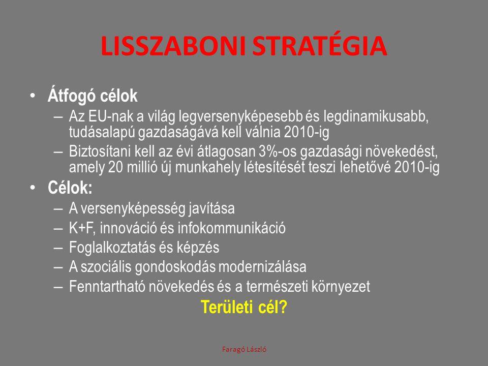 Lisszaboni stratégia Átfogó célok Célok: Területi cél