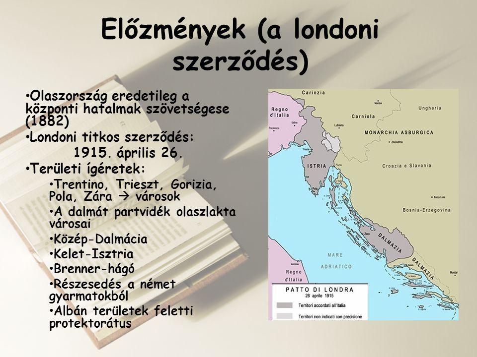 Előzmények (a londoni szerződés)