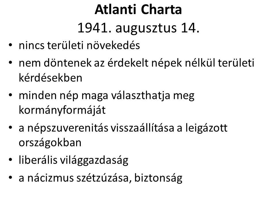 Atlanti Charta 1941. augusztus 14.