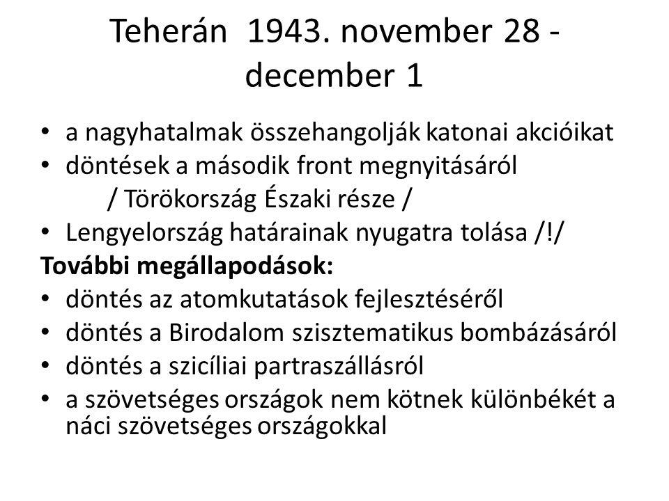 Teherán 1943. november 28 - december 1