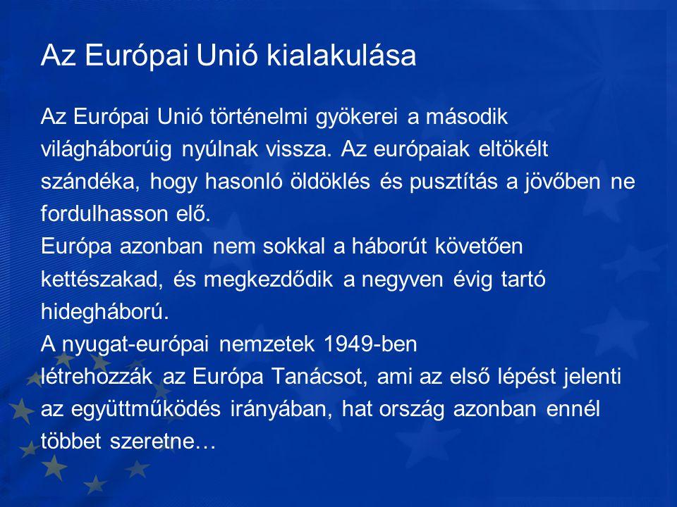 Az Európai Unió kialakulása