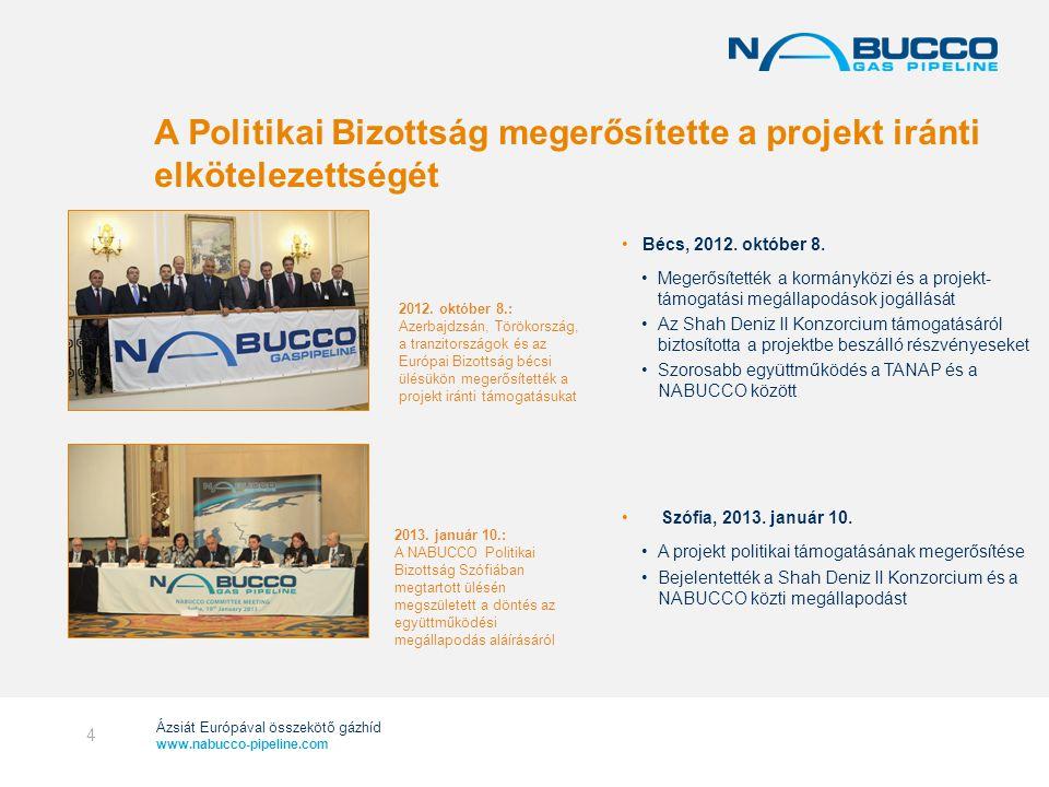 A Politikai Bizottság megerősítette a projekt iránti elkötelezettségét